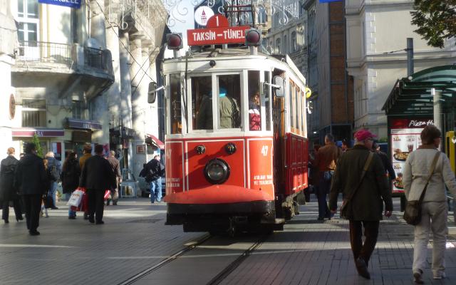 Istiklal Caddesi in Instanbul, Turkey