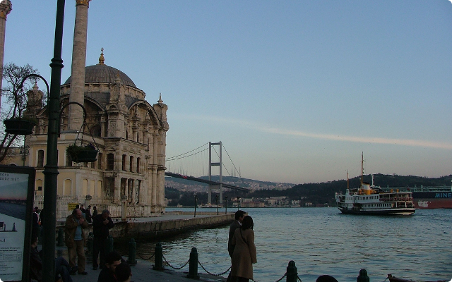 The Ortaköy Bosphorus bridge.