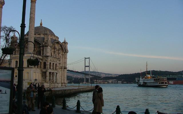 The Ortaköy Bosphorus bridge.